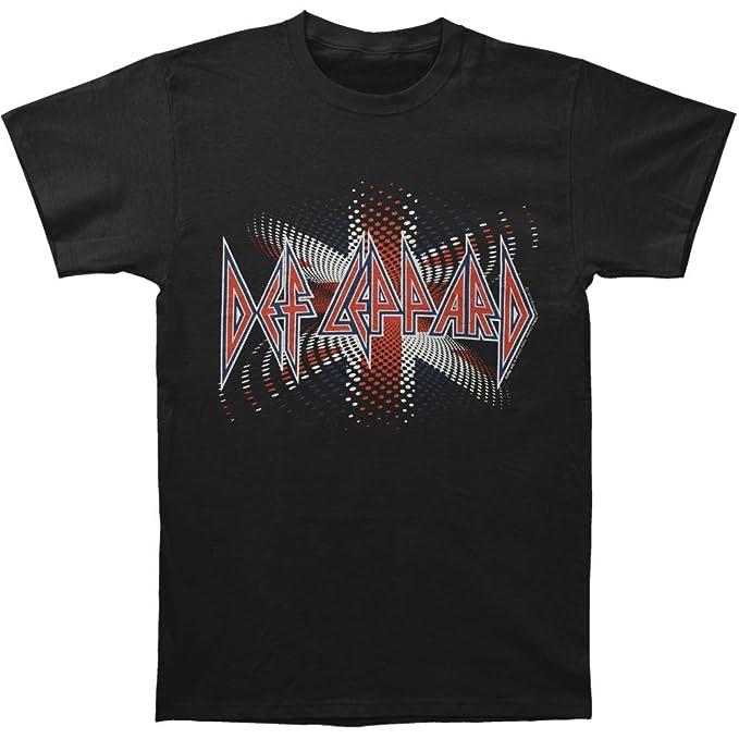 c0be0d0b06d Image Unavailable. Image not available for. Color  Def Leppard Men s British  T-shirt Medium Black