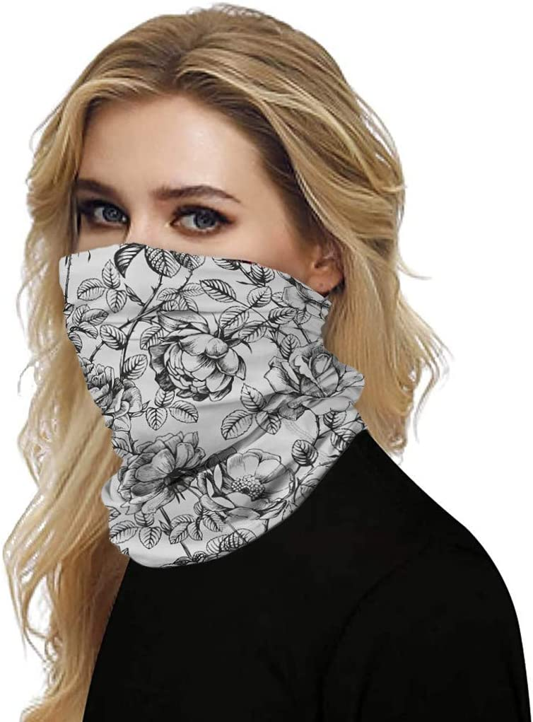 GJKK Damen und Herren 12 in 1 Multifunktionstuch Multifunctional Headwear Face Bandanas Headband Neck Gaiter Schlauchschal Outdoor UV Staubschutz Mund-Tuch Motorrad