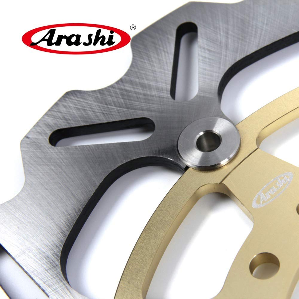 Arashi Front Brake Disc Rotor for Suzuki GSXR 600 2008-2014 Motorcycle Replacement Accessories GSX R GSX-R GSXR600 750 1000 Gold 2009 2010 2011 2012 2013 by Arashi (Image #3)
