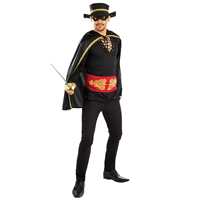 Amazon.com: Divertido disfraz de Zorro para hombre, para ...