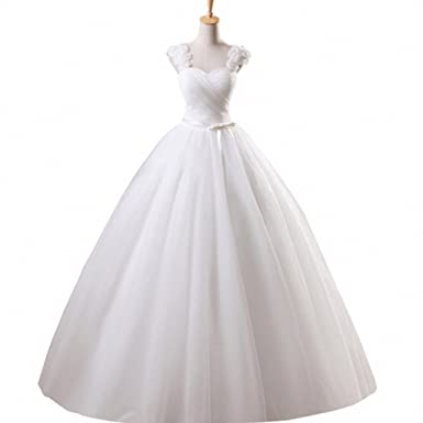 Lamya Princess Sweetheart Flower Wedding Dress 2018 Vintage Tulle ...