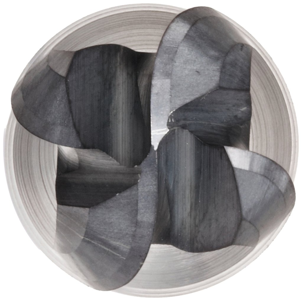 Melin Tool CCMG-EB Carbide Ball Nose End Mill 30 Deg Helix AlTiN Monolayer Finish 0.6250 Cutting Diameter 6 Overall Length 4 Flutes 0.625 Shank Diameter