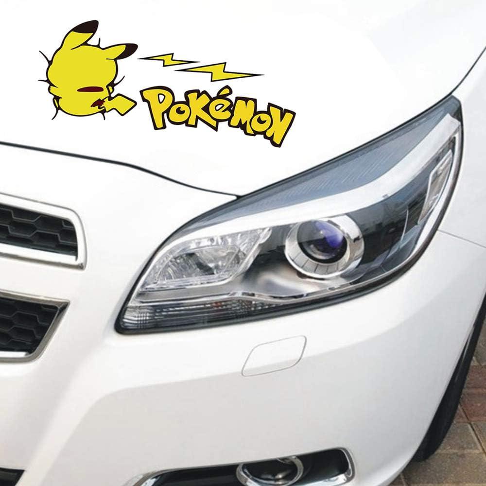 Pikachu Pokemon Decals Japanese Cartoon Anime Stickers Car Bumper Laptop Sticker Set of 2
