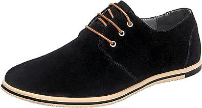 WUIWUIYU - Zapatos de ciudad para hombre, piel sintética, Oxfords con cordones Derbies
