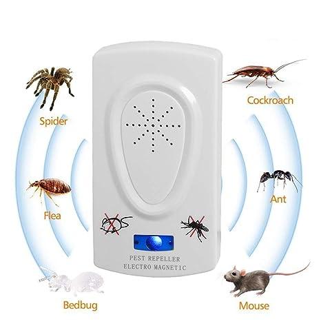 OLDF Repelente ultrasónico de plagas, Control electrónico de plagas Control de plagas Seguro para Mascotas