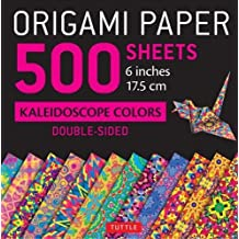 "Origami Paper - 500 sheets Kaleidoscope Patterns- 6"" (15 cm): Tuttle Origami Paper: High-Quality Origami Sheets Printed with 12 Different Designs: Instructions for 8 Projects Included"