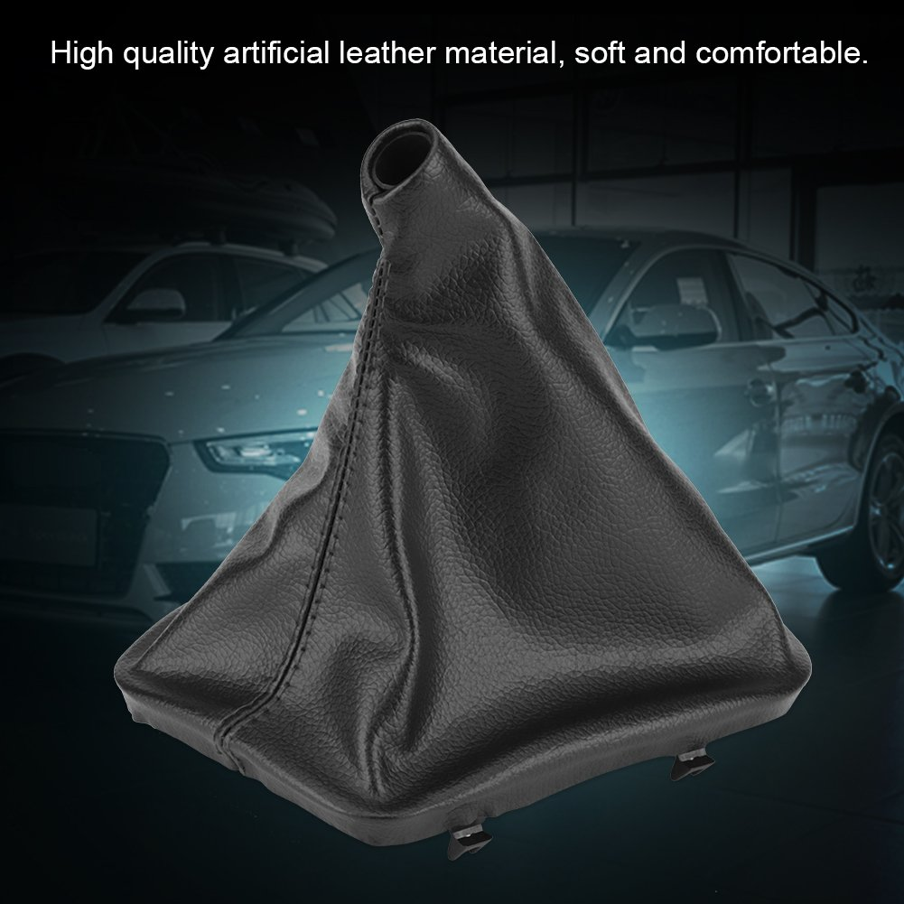 DEALPEAK Leather Car Gear Stick Shift Knob Gaiter Boot Cover Protector Left Hand Driver for BMW Auto E30 E34 E36 E46 Z3 Series
