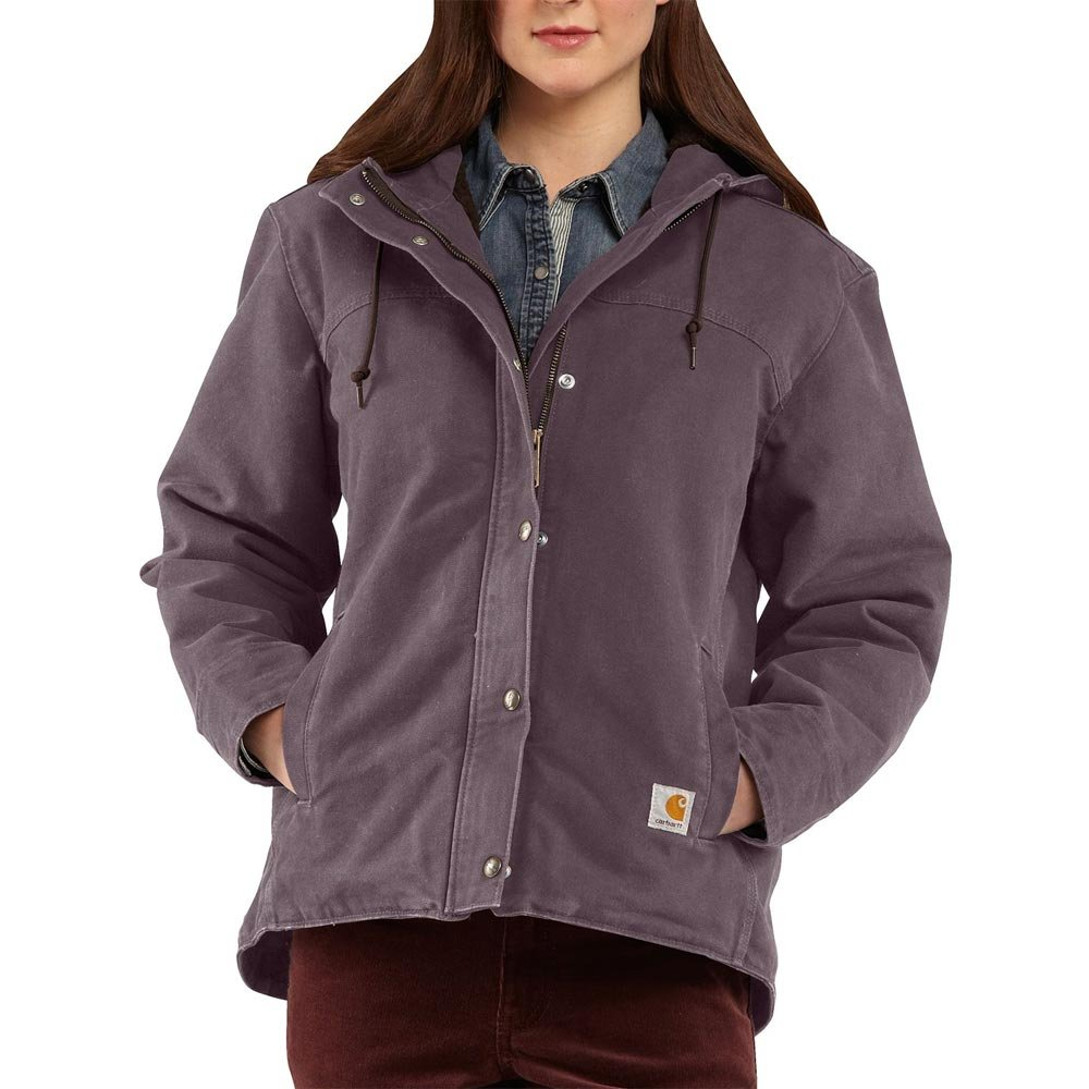 Carhartt Women's Sandstone Berkley Snap Front Jacket, Dusty Plum, XX-Large