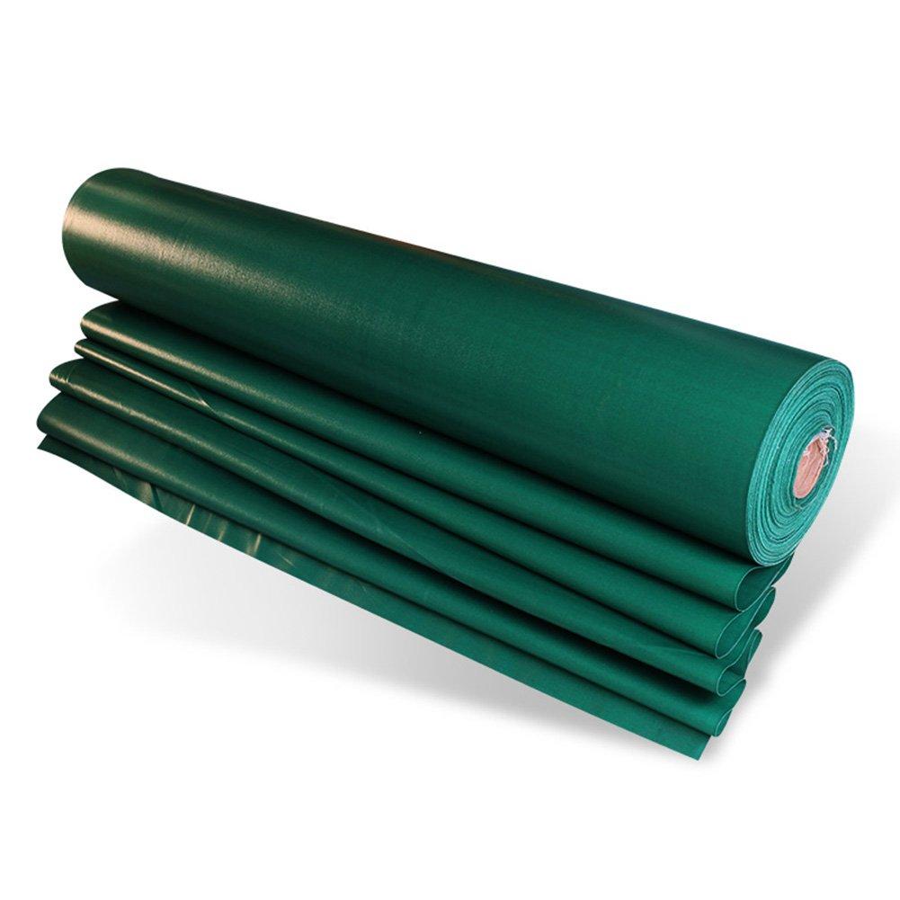 ZHANWEI ターポリンタープ Tarp テント タープ 厚い防水布オーニング 雨篷 厚い 耐寒性 日焼け止め PVCコーティング布 オーニング グルー リノリウム シェード トラック、 濃い緑色 (色 : Green, サイズ さいず : 4x8M) B07FYGRBF1 4x8M|Green Green 4x8M