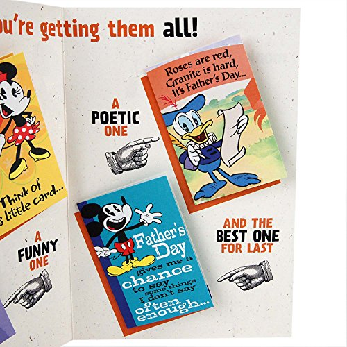 Hallmark Funny Father's Day Greeting Card (Disney Mickey Mouse with Mini Cards Inside) Photo #6