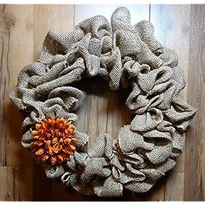 Natural Burlap Wreath Fall Flower 50