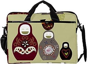 Lightweight 15 inch Laptop Bag Business Messenger Briefcases Cute Russian Dolls Waterproof Computer Tablet Shoulder Bag Carrying Case Handbag for Men and Women