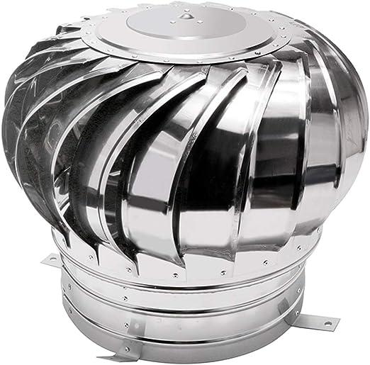 LTLCBB Sombrero Extractor Giratorio, Ventilador La Turbina Soplador Acero Inoxidable Al Aire Libre Viento Gorro De Chimenea Conducto De Aire Ahorro De Energia Buhardilla Granja La Fábrica,100mm: Amazon.es: Hogar