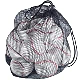 Tebery 12 Pack Unmarked Standard Size Baseballs with Mesh Bag