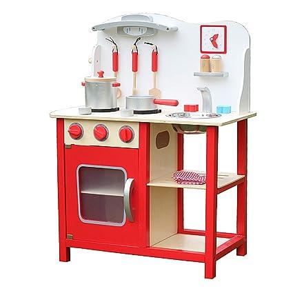 Amazon.com: Kids Wood Kitchen Cooking Toy / Kids Wood Market ...
