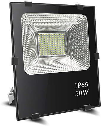 Foco led 50w, BeiLan LED Foco proyector exterior Super brillante 100 LED 6000K Luz de inundación IP65 Resistente al agua para el jardín Jardín Patio (sin enchufe): Amazon.es: Iluminación