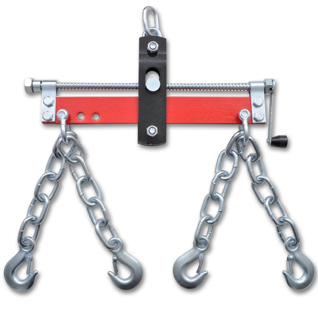 Festnight Equilibreur de Charge pour Grue dAtelier Rouge Argent 900kg
