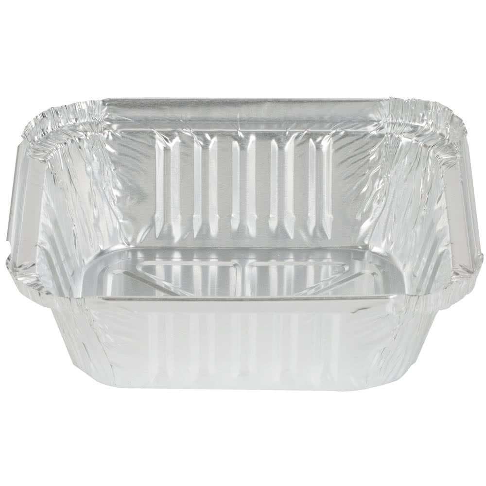 Durable Packaging International 220-30-1000 CPC 1 lbs Oblong Foil Pan - Case of 1000