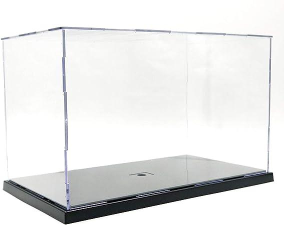 Elepure - Caja de cristal acrílico transparente para colección Lego Figuras de maqueta, gran expositor, caja de exhibición antipolvo con base para juguetes Mini figuras (31 x 17 x 19 cm): Amazon.es: Hogar