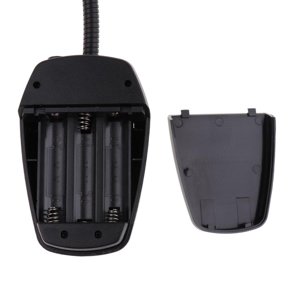 4 LED Notenständer Lampe Musik Partitur Licht Clip-on Leselicht schwarz