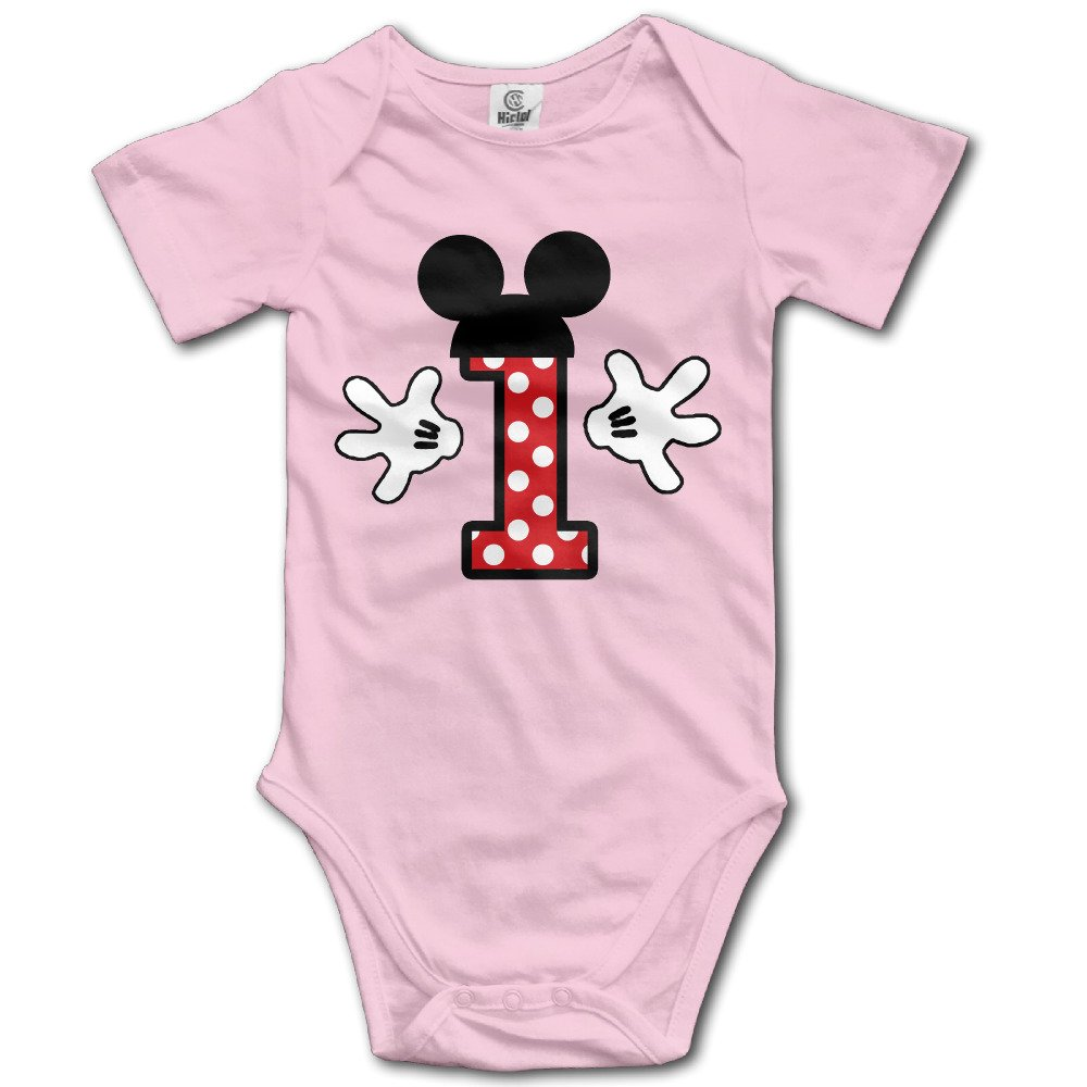 UKW Baby Boys' First Anniversary - One Year Old Crew Neck Bodysuits