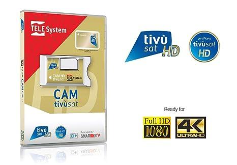 Tele System SmarCAM TivùSat Lector de Tarjeta Inteligente Interior Ci - Lector de Tarjetas de Memoria (Interior, LG, Samsung, Sony, Ci)