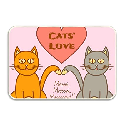 amazon com ranhkdn cats love welcome doormat indoor bathroomimage unavailable
