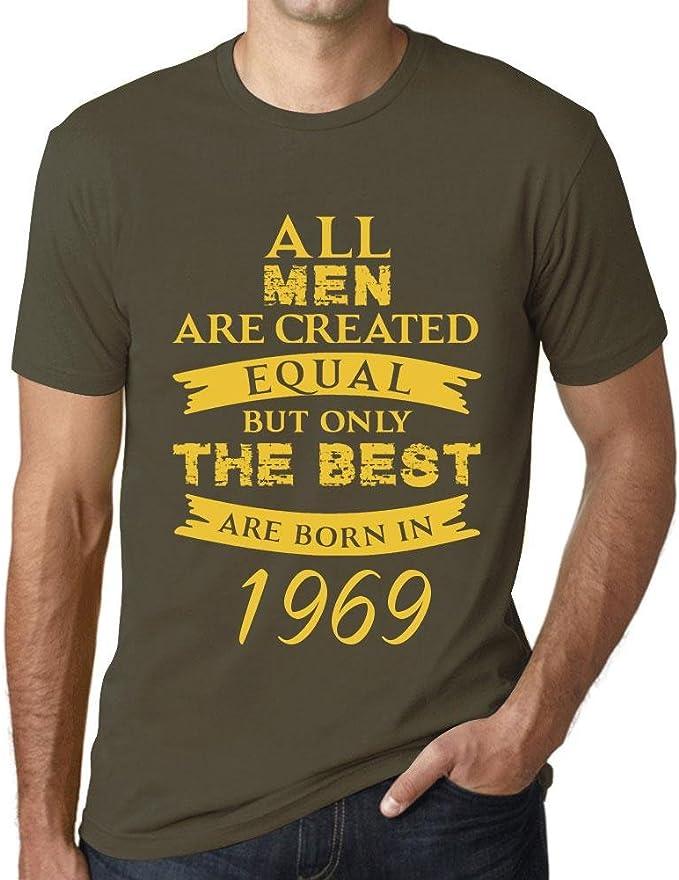 Hombre Camiseta Vintage T-Shirt Born in 1969 Verde Oliva: Amazon.es: Ropa y accesorios