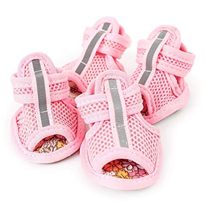f21b6d357fdd0 Amazon.com : XBKPLO Pet Dog Summer Shoes Breathable Mesh Puppy ...