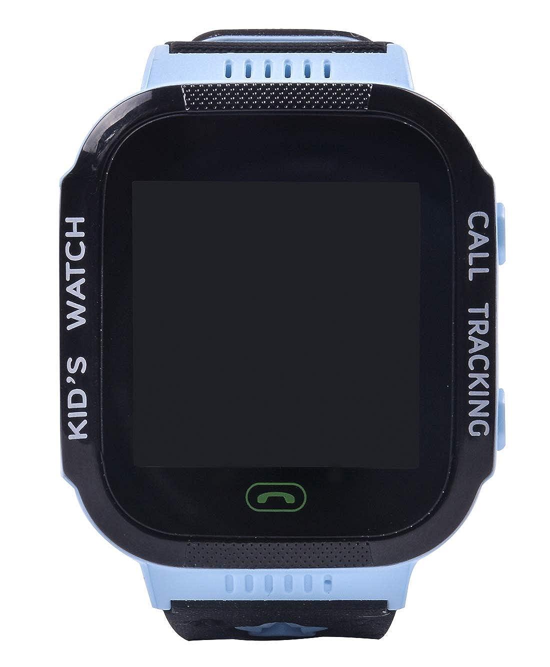 Aivtalk Reloj Inteligente para Niños con GPS Pantalla Táctil SOS Compatible con iOS Despertador Azul: Amazon.es: Relojes