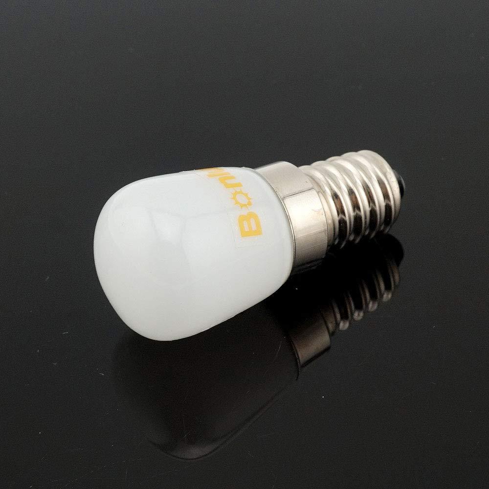 Bonlux E14 1.5W Bombilla LED para la Iluminación de Máquina de Coser, El Refrigerador con 120 Lúmenes, Reemplazo de 15W(Luz Fría 6000K)