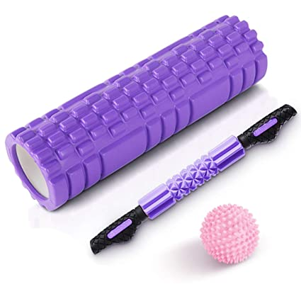 Foam Roller,columna de yoga + bastón de masaje + bola de ...