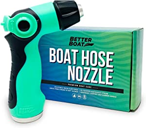 Better Boat Hose Nozzle for Use with Water Hose Garden Hose Marine Grade Washdown Spray Gun for Boats Car RV and Auto