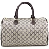 9fbf5bc03b63 Gossip Girl - Designer Monogram Barrel Boston Bowling Duffel Bag Handbag  With Long…