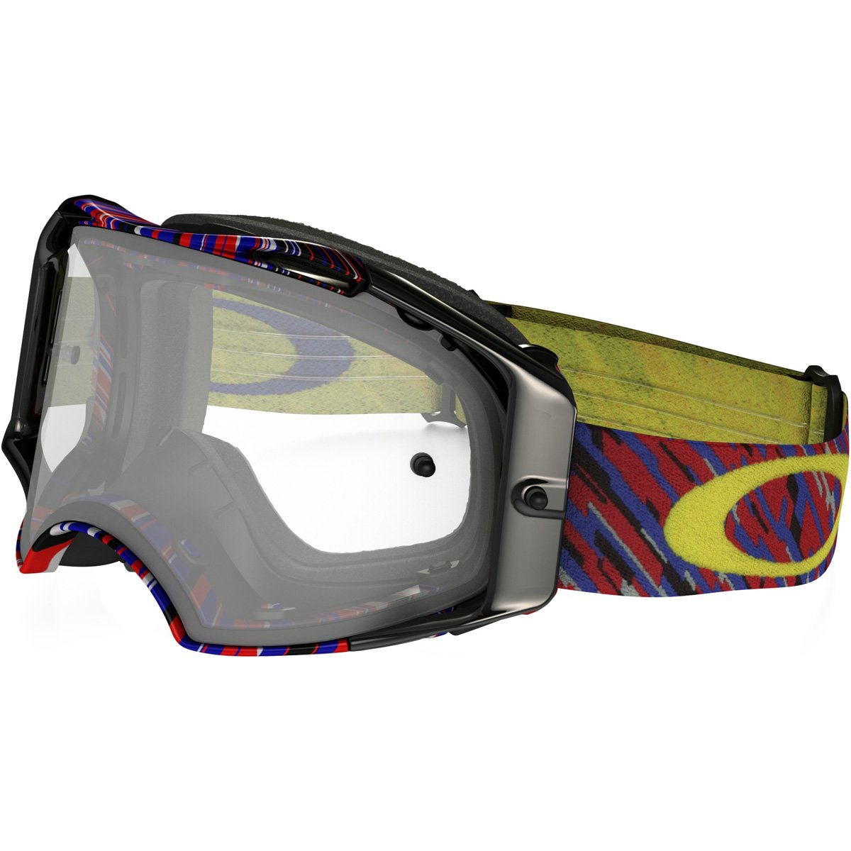 Oakley Airbrake MX Rain Of Terror Men's Dirt Motocross Motorcycle Goggles Eyewear - White/Clear / One Size Fits All