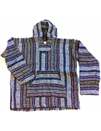 Baja Hoodie~ Original Mexican Deluxe Baja~ Made with 100% Recycled Fibers~ Huge Selection Of Colors & Sizes!! (Medium, Multicolor)