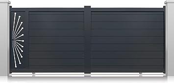 Puertas correderas Perso+ modelo Pan de aluminio para puertas motorizadas de color gris – Altura:1600 mm., gris: Amazon.es: Bricolaje y herramientas