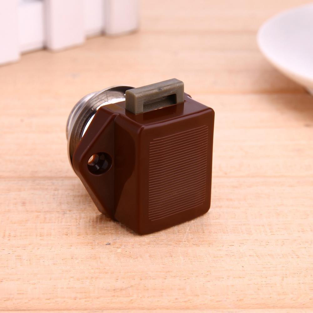 Brown Starnearby 5 St/ück Push Button Catch Door Lock Verriegelung Keyless-Schrank Lock Catch Schrankknopf Lock f/ür Pferdeanh/änger Camper
