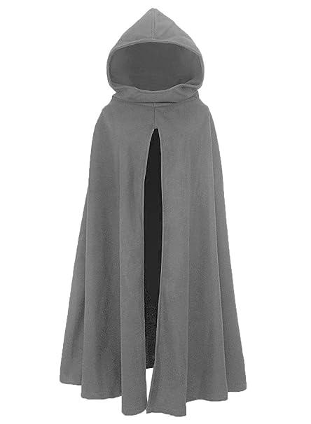 FUTURINO Damen Lose Umhang mit Kapuze Mantel Poncho Kap Winter Herbst Gotisch Outwear Longstrickjacke