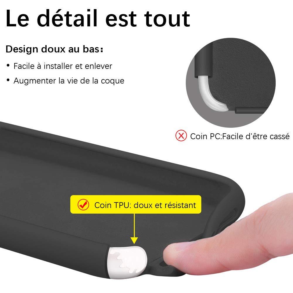 Gorain Coque pour iPhone 11, Silicone Liquide Housse de Téléphone Protection Antichoc Anti-Slip Etui Case pour iPhone XI 6.1 Pouces - Noir