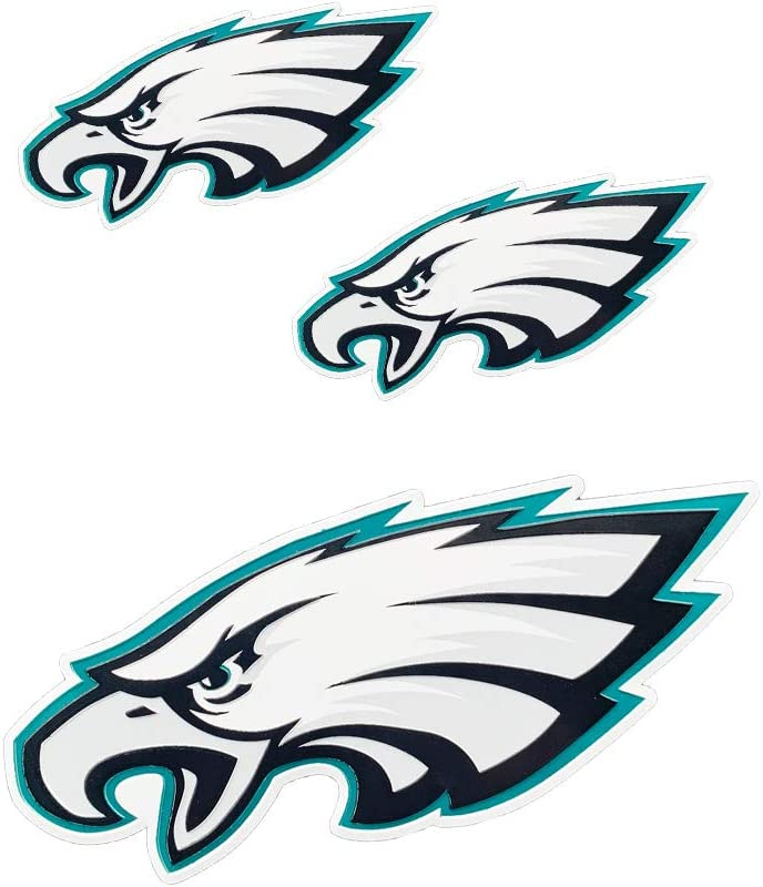3pcs Eagles Philadelphia Metal tag Stickers, Used for car Decals, Wall Stickers, Doors, laptops, Home Decoration, car Decoration, Better Gifts