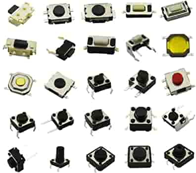 180pcs 10Size SPST Small Mini Micro Momentary Tactile Push Button Switch Set Kit