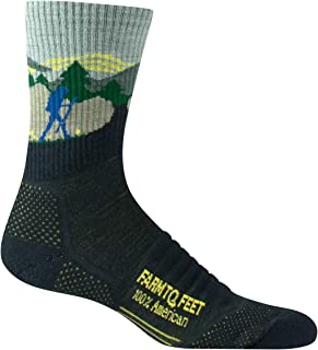 product image for Farm to Feet Unisex Blue Ridge 3/4 Lightweight Technical Hike Merino Wool Crew Socks