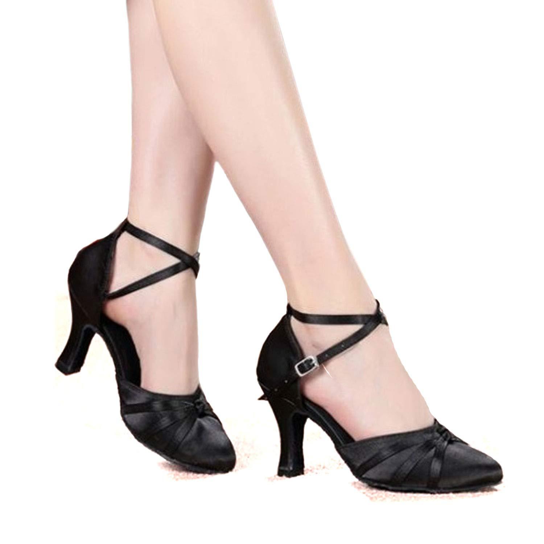 SUKUTU Frauen Geschlossene Zehe Tanzschuhe Latein Salsa Tango Ballroom Tanzen Schuhe f/ür Lady SU026