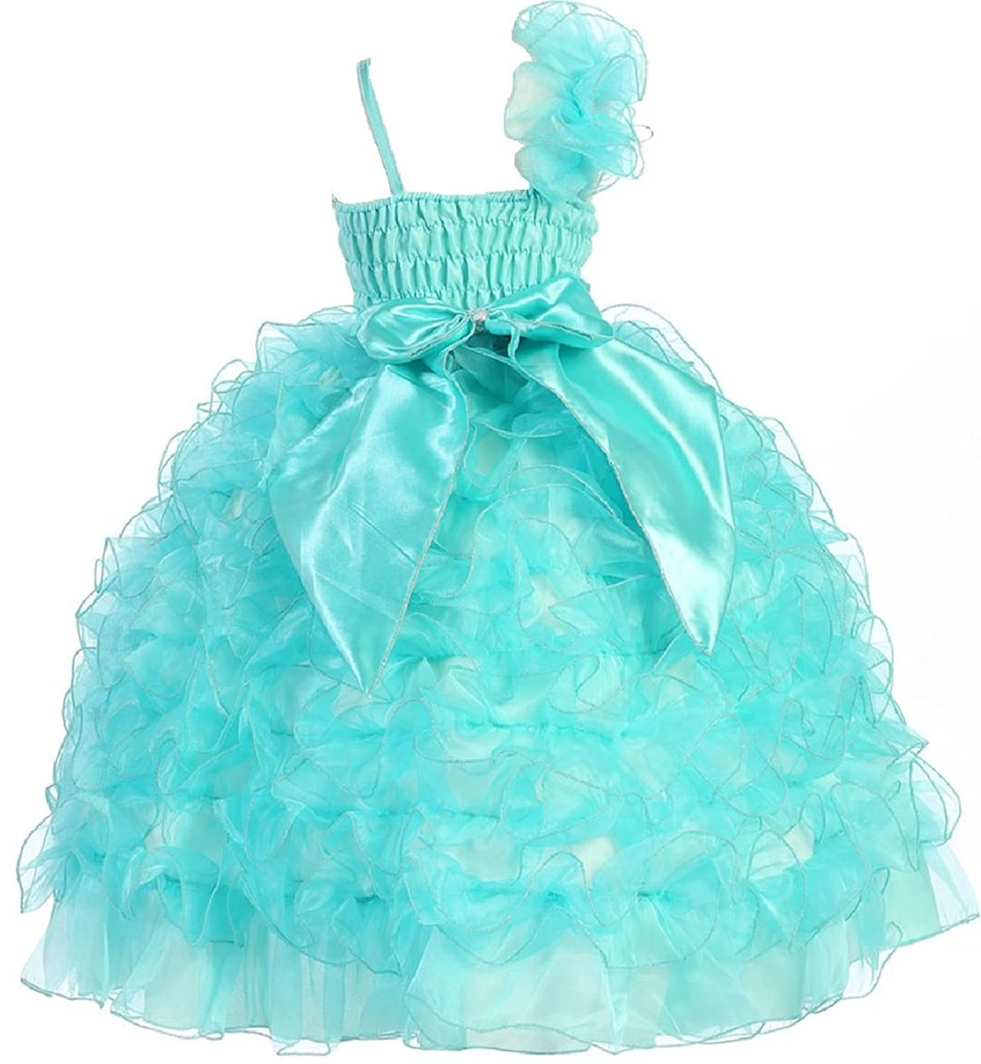 Amazon.com: Little Girls Princess Pageant Girl Ball Gown Flowers ...