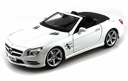 Amazon Com Mercedes Benz Sl500 Convertible Pearl White Maisto