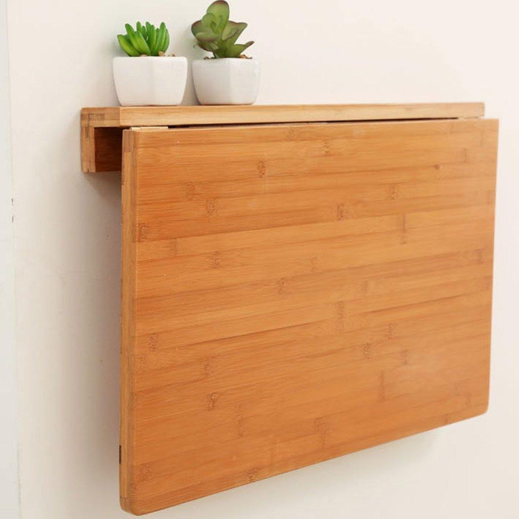 壁掛け式折り畳みテーブルダイニングテーブルスタディデスクコンピュータデスクバンブー 折畳式の (色 : Original bamboo color, サイズ さいず : 80*45cm) B07DGXLSGV 80*45cm|Original bamboo color Original bamboo color 80*45cm