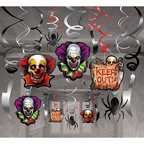 amscan Creepy Carnival Mega Value Pack Foil Swirl Decorations
