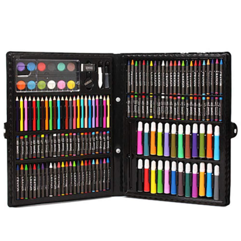 Art JKWL Set di Pittura per Bambini Set di Pittura per Bambini, Set di 168 Pezzi d'Arte, pastelli artistici per Studenti con Scatola Regalo in Penna ad Acquerello