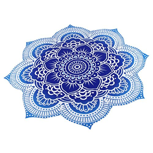 Price comparison product image Kimloog Round Polyester Beach Towel Pool Shower Towel Home Decor Blanket Table Cloth Yoga Mat